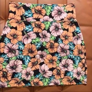Floral pink skirt